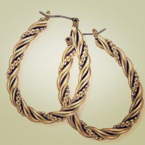 "Premier Designs ""Simple Twist"" earrings"
